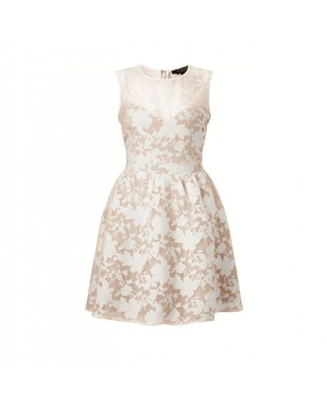 LIPSY Chiffonkleid nude Floral