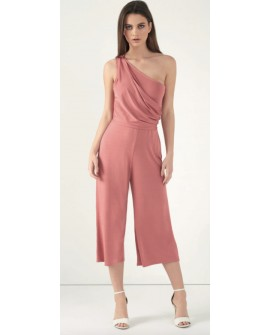 LIPSY Overall Jumpsuit rosa One-Shoulder