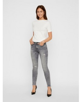 NOISY MAY LUCY NORMAL WAIST SKINNY FIT JEANS GRAU